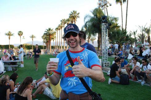 Coachella drinking area