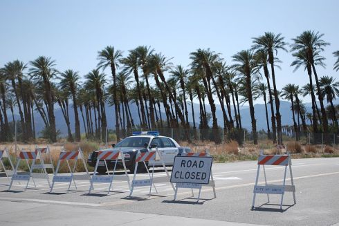 Coachella Indio Roadblock